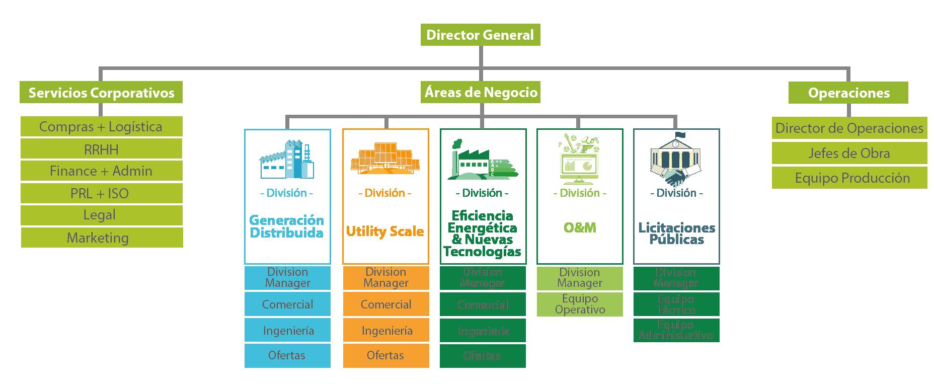 organigrama greening
